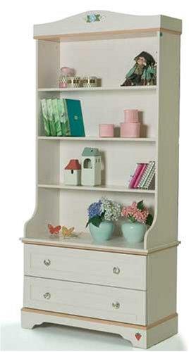 Children S Bedroom Furniture Girls Flora White Bookcase