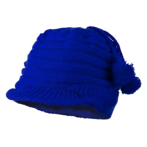Knit Hat with Visor for Infant - Royal OSFM