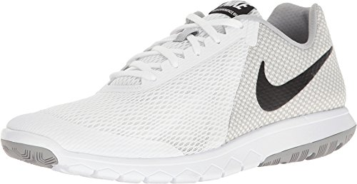 Nike Mens Flex Experience RN 6 White Black Wolf Grey Size 7
