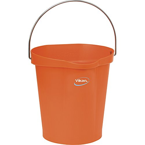 Vikan Polypropylene Orange 3 Gallon Pail