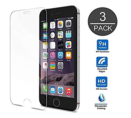 [3Pack] Screen Protector Compatible iPhone 8 Plus/7 Plus/6 Plus,9H Hardness,Premium Anti-Glare,Anti-Fingerprint,3D Touch Compatible 0.3mm Screen Protection (5.5Inch-3Pack) TangDirect