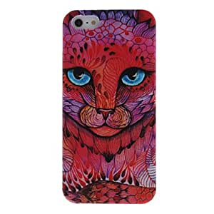 Estilo de dibujos animados caso duro de Red Small patrón del leopardo para el iPhone 5/5S