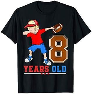 Cool Gift 8th Football Birthday  8 Dabbing Football Boys Tees Women Long Sleeve Funny Shirt