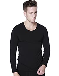 Liang Rou Men's Stretch Thin Long Sleeve Crewneck Thermal Underwear Tops