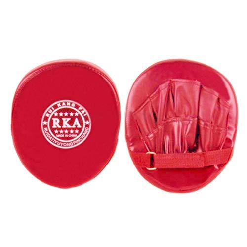 (Boxing Training Pad - Boxing Training Glove Mitt Target Focus Punching Pad Karate Muay Thai Kick Strike Kick Shield Red)