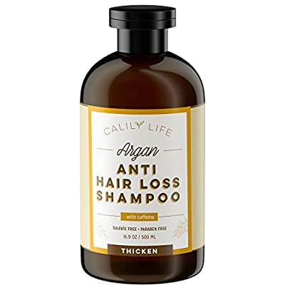 Calily Life Organic Hair Growth and Anti Hair Loss Shampoo, 17 Oz.– For Men & Women - Infused with Caffeine, Argan Oil, Vitamins B5, B7 and more - Protects Against Hair Loss, Strengthens & Thickens