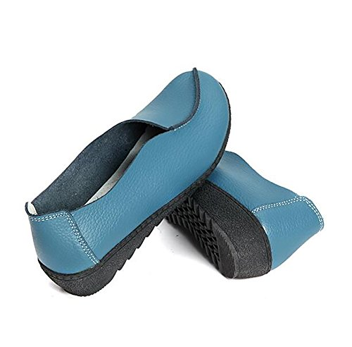 Scarpe Casuale Scarpe Autunno SHANGXIAN Mamma Vera Pink US7 5 EU38 UK5 Blue Appartamenti Semplice CN38 Scarpe Pelle Confortevole 5 wqp5xxdIY