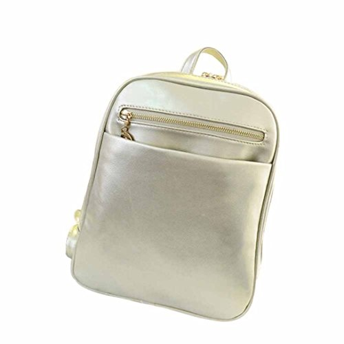 Silver Travel TM Girls Shoulder Rucksack School Leather Boys Satchel Bag Backpack Fashion Elevin New Women 6B4vxxdw