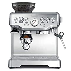 The barista express from bean to espresso in under a minute create great tasting espresso in less than a minute. The barista express allows you to grind the beans right before extraction, and its interchangeable filters and a choice of automa...