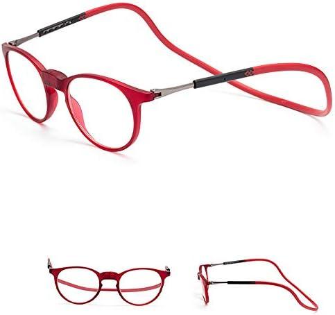 ファッション老眼鏡、ラウンドフレーム、ブルーライトカット、疲労防止、マグネット付き、取り外し可能、ユニセックス