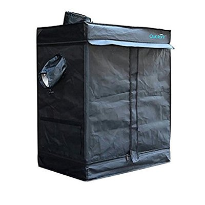 Quictent SGS Approved Eco-friendly 30''x18''x36'' Reflective Mylar Hydroponic Grow Tent with Heavy Duty Anti-burst Zipper and waterproof Floor Tray for Indoor Plant Growing by Quictent