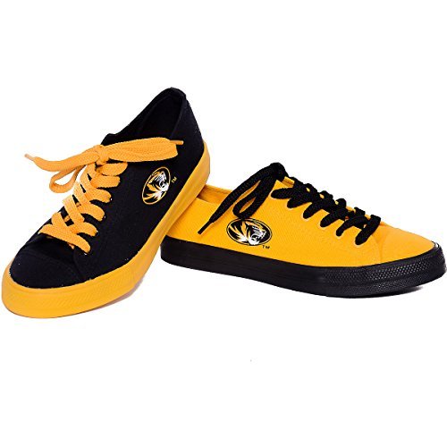 Reversus Missouri Tigers Low-top Canvas Sneakers Hombres 10 - Mujeres 12