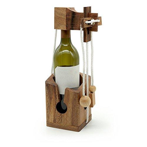 Wooden Wine Puzzle (Jakapan Wine Bottle Wooden Puzzle Thailand Handmade)