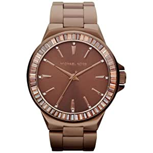 Michael Kors Women's MK5724 Brown Stainless-Steel Quartz Watch with Brown Dial
