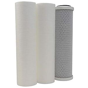 AQUAWATER – 104205 – Kit 3 cartouches pour Osmoseur comprenant 2 cartouches de filtration (20µ et 5µ), – Pour bol de…