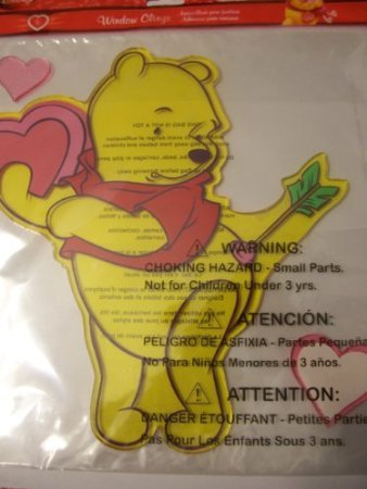 Winnie Pooh Carpet The (Disney Winnie the Pooh Valentine Window Gel Cling ~ Stuck on You!)