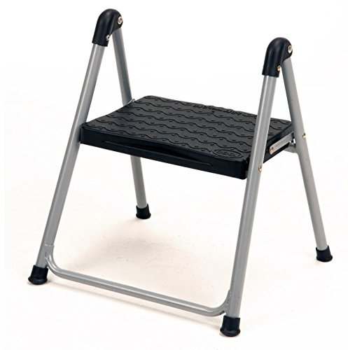 Step Stool Heavy Duty, Made of Steel, Single-Step, Portable, Folding Stool, Convenient Transport, Easy Storage, Anti-Slip Step Pad, Floor Protection, Safe and Secure, Durable and Sturdy & E-Book.