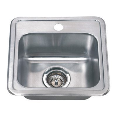 Wells Sinkware CMT1515-6 18-Gauge Single Bowl Top-Mount Kitchen Sink, Stainless Steel by Wells Sinkware Corp. -- DROPSHIP by Wells Sinkware Corp. -- DROPSHIP