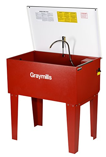 - Graymills PL36-A Standard Leg Mounted Solvent Parts Washer, 115V, 1 Phase, Red