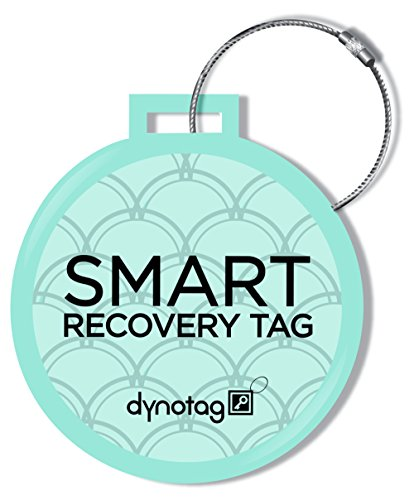 dynotag-web-gps-enabled-qr-smart-deluxe-steel-luggage-tag-braided-steel-loop-turquoise