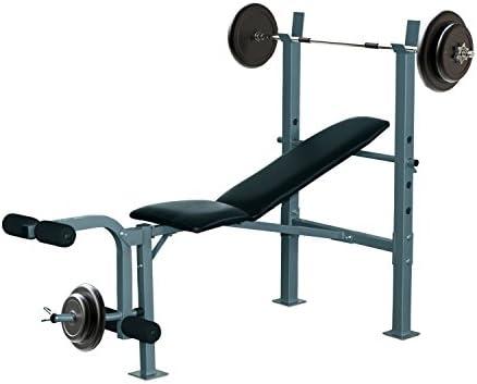 Homcom Banco de Musculación Banco de Pesas Maquina de Fitness ...