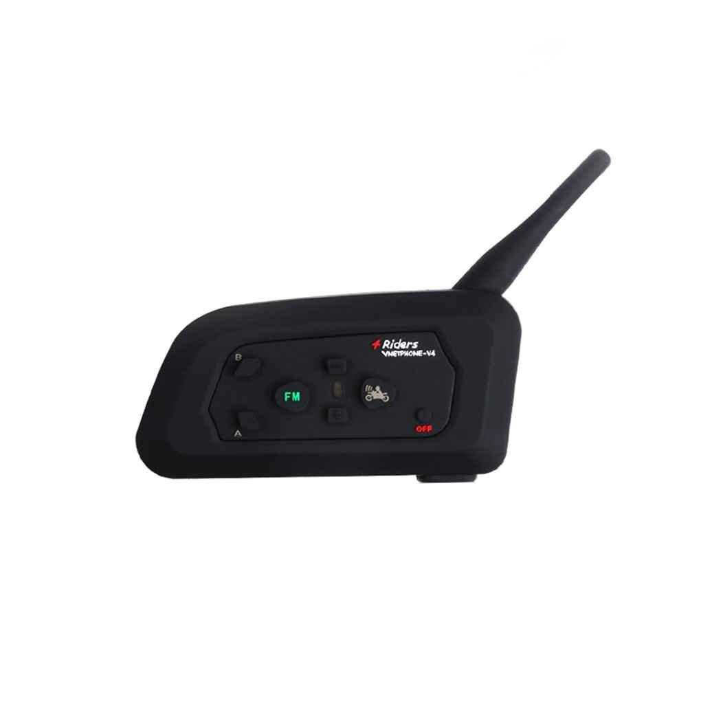 EJEAS V4-1200 Wireless Bluetooth Motorcycle Intercom Headphone Multi Interphone Helmet Headset Communicator 4 Riders