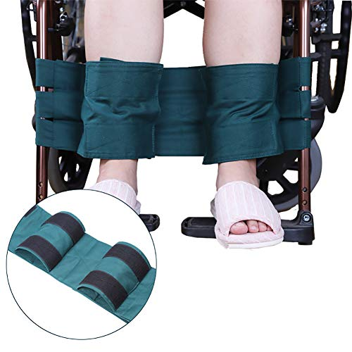 Fushida Wheelchair Leg Straps -Wheelchair Footrest Restraint – Medical Foot Support Belt – High Quality Cloth Legs Belt for Wheelchairs(Green, FYH141)