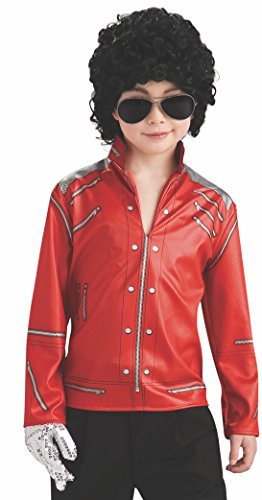 Michael Jackson Child's Value Red Beat It Zipper Jacket Costume Accessory, Large (Michael Jackson In Red Jacket)