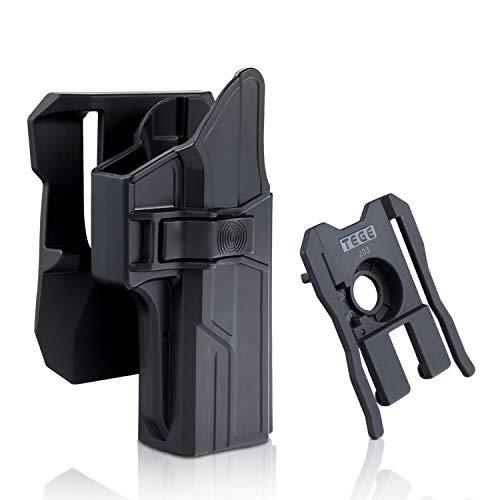 efluky Glock 17 Holster Fits 22 31 (Gen 1-5) Paddle Belt Holster Two Options, 360°Auto-Adjusting OWB Holster, Tactical Pistol Holster with Trigger Release, RH (Glock 17 22 31 Paddle Molle Holster) (Best Glock 22 Gen 4 Holster)