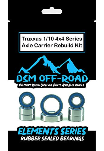 Traxxas Slash 4x4 LCG, Stampede 4x4, 1/10 Rally, Telluride Axle Carrier Wheel Hub Bearing kit Set (8 Bearings) DSM Off-Road ()