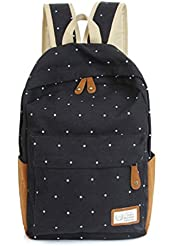MiCoolker(TM) Cute Dot Lightweight Casual Daypack Backpack for College School Bookbag