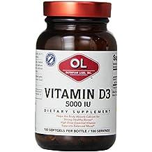 Olympian Labs Vitamin D3 5000 IU Capsules, 100 Count