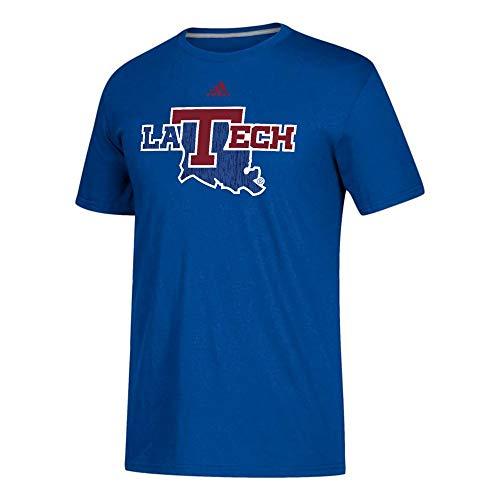 Sideline T-shirt - adidas Louisiana Tech Bulldogs NCAA Men's Blue Sideline Spine Climalite Performance T-Shirt (Medium)