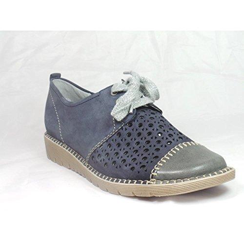 Jenny - Zapatos de cordones para mujer azul azul