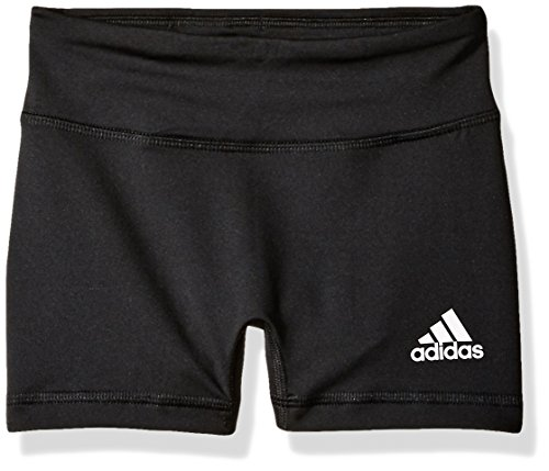 adidas Womens Girls Volleyball 4 Short Tights, Large, Black