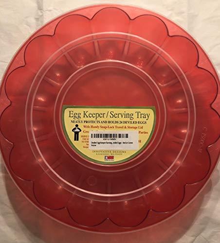 Deviled Egg Keeper/Serving Tray - Holds 24 Deviled Eggs