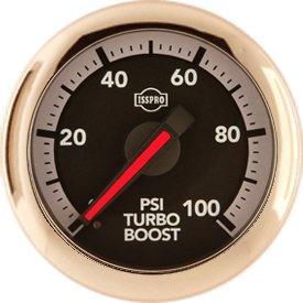 Isspro Gauges (R30433) Turbocharger Boost Gauge (Gauge Only)