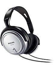 Philips Audio SHP2500/10 HiFi TV-hoofdtelefoon (uitstekend geluid, geluidsisolatie, ideale pasvorm, volumeregeling, extra lange kabel van 6 m) zilver/zwart, verstelbare voorband