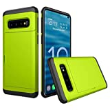 Cyhulu Samsung Galaxy Phone S10e Case, New Fashion Brushed Hard PC+Silicone Case Cover Card Holder for Samsung Galaxy S10e 5.8inch Accessories (Green, One size)