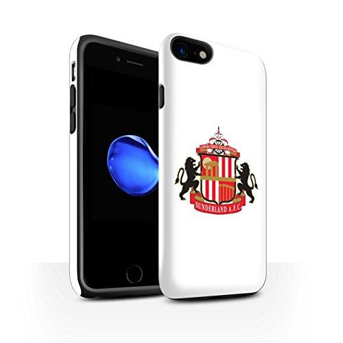 Officiel Sunderland AFC Coque / Brillant Robuste Antichoc Etui pour Apple iPhone 8 / Blanc Design / SAFC Crête Club Football Collection