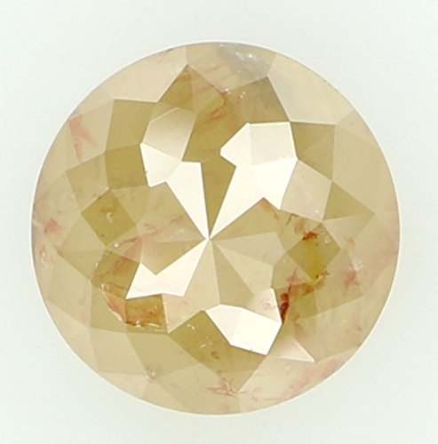 1.52 Ct Round Diamond (6.40 MM 1.52 Ct Natural Loose Diamond Round Rose Cut Yellow Grey Color I3 Clarity L1980)