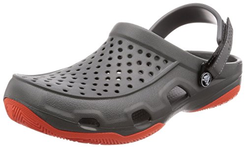 Men Crocs 0ek Grey Deck Tangerine Grey Clogs Swiftwater Slate gRPqR6Hw