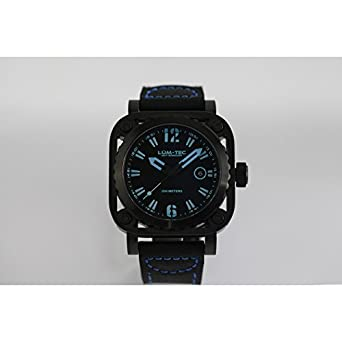 lum-tec G6 Armbanduhr - Blau Schwarz G Serie