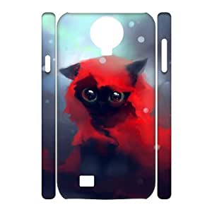 TOSOUL Cell phone Cases Lovely Cat Hard 3D Case For Samsung Galaxy S4 i9500