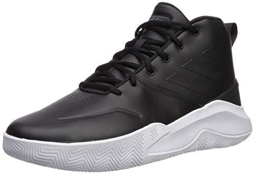 adidas Men's OwnTheGame Basketball Shoe, Black/Night Metallic, 10 M US