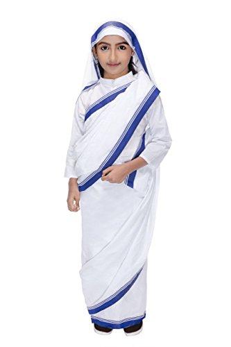 Smuktar garments Girls Mother Teresa Costume 4-5 Years White -