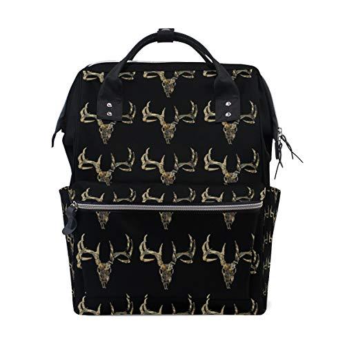 Hunting Deer Head Camoflauge Diaper Bags Large Travel Nappy Nursing Backpack Mommy Bag (Baby Hunting Gear)
