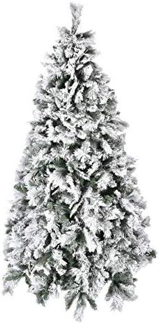 XONE Albero di Natale 210 cm – Innevato e folto   Albero Bianco Artificiale in PVC