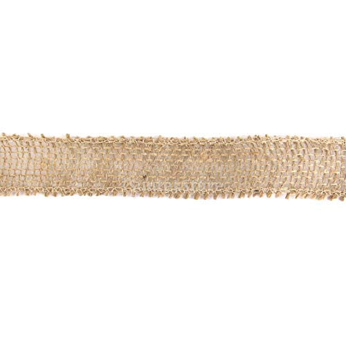 XeminorDIY Natural Jute Burlap Fabric Jute Roll Craft Burlap Ribbon for DIY Handmade Wedding Party Crafts Use 1 Roll 3M by Xeminor (Image #7)