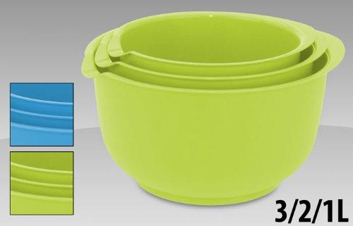 Rührschüsseln  Teigschüssel 3er-Packung, Rührschüsseln, Schüssel - Satz (farblich ...